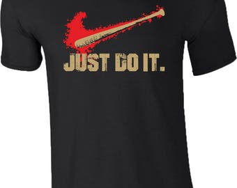 The Walking Dead Series T-Shirt Baseball Bat Just Do It Gym Birthday Gift Mens Top