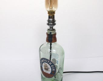 Plymouth Gin bottle Lamp