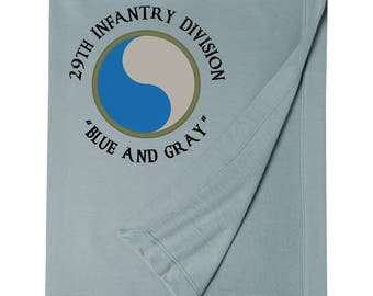 29th Infantry Division Embroidered Blanket-7551