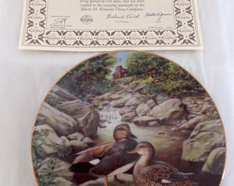 """Bradford Exchange """"The Gadwall"""" Duck Plate~Edwin Knowles China Plate~Artist Jerner"""