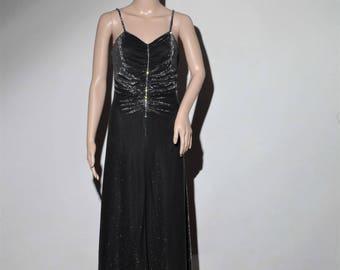 "Evening dress ""VERA MONT"" black and rhinestones"
