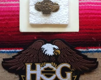 H.O.G Harley Owners Group Ladies Patch and Pin set 1999