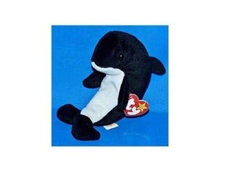 Ty Beanie Babies Waves the Orca 1996