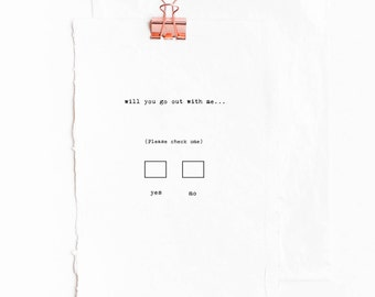 Love Box: Date Me - Funny, Inspirational, Romantic Greeting Card /Poem -Gifts for Bestfriend, Girlfriend, Boyfriend