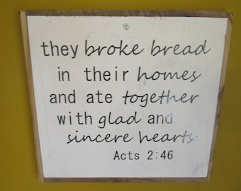 Acts Scripture Sign