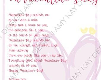 Printable Valentine's Day poem