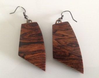 Exotic Bocote Wood Earrings