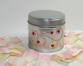 Cuddles Soy Wax Embellished Container Candle.