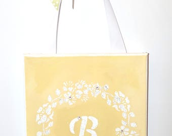 "Baby Shower Gift, Monogrammed Initial ""B"", Nursery Letters, Baby Girl, Baby Boy, Swarovski Crystals, Nursery Decor, Wall Art, Home Decor"