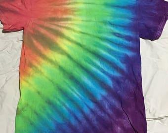 Rainbow burst tie dye shirt