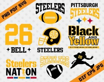 Pittsburgh Steelers,26 Bell football,team,cutting machines,T-shirt Design,Pittsburg steelers Silhouette,TT-023