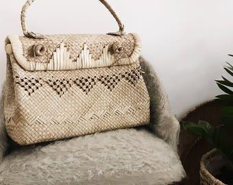 Original vintage very raffia basket