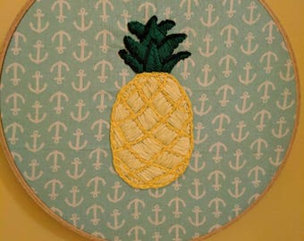 Pineapple Hand Embroidery