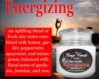Energizing Scented Soy Jar Candle (16 oz.)