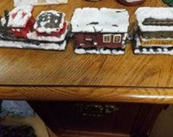vintage x-mas train set