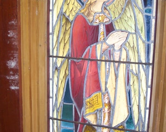 Antique Church Angel Stained Glass Windows