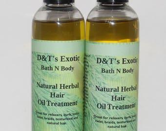 Natural Herbal Hair Oil Treatment