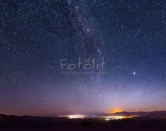 Starry sky background, night sky backdrop, night sky Photoshop, milky way backdrop, night background, moonrise, digital backrdrop, galaxy