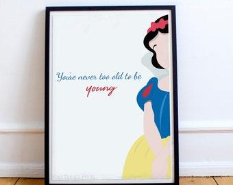 Disney's Snow White illustration Print/Poster-A4