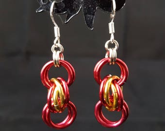 Chainmaille Earrings in a Variety of Colours
