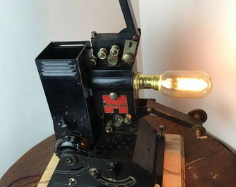Up-cycled, Steampunk, Industrial, Projector Lamp.