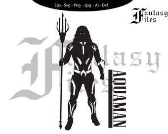 Justice League, AQUAMAN svg-png-dxf-jpg-ai-eps. Instant DOWNLOAD