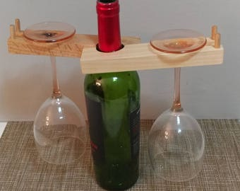 Wine Rack for Two (Tilted)