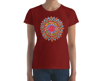Rose Burst Women's short sleeve t-shirt