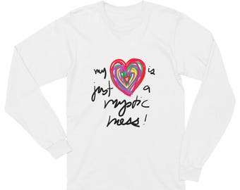 My Heart is Just a Mystic Mess Unisex Long Sleeve T-Shirt