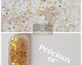 Resin acrylic nails 10gr precious gold