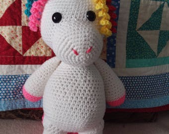Stuffed unicorn made to order, 3 weeks out
