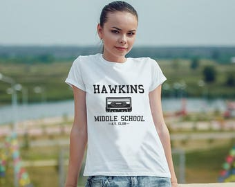 Hawkins Middle School AV Club Parody Women Shirt Women T Shirt