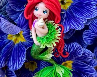 Little Mermaid necklace/Fimo Polymer clay/Princessa/Arimi Creations/Baby Gift/handmade