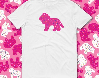 Lion Animal Cookie T Shirt, Clothing-Gift, Circus Birthday, Pink Frosted Animal Cookie, Unbasic Tee, Graphic Tee, Funny T Shirt, Lion