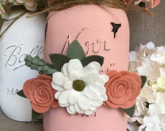 Flower Headband, Baby Headband, Felt Flower Headband, Nylon Headband, Floral Crown, Hair Accessories, Newborn Photo Prop