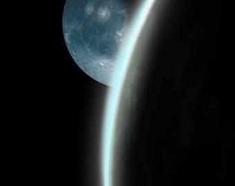 Moonrise over Earth