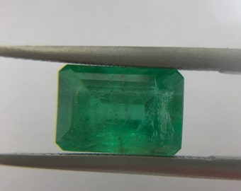 2.04Cts Natural Zambian Emerald AAA Grade 9X6MM Octagon Cut Faceted Wholesale Lot Loose Gemstone