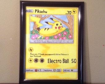 Pikachu Pokemon Card