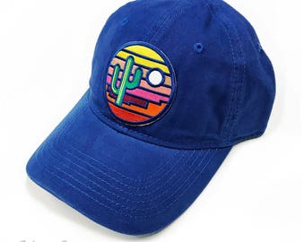 Stained Glass Sunset : Unstructured Cap