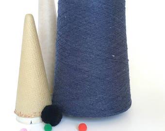 2/24 Acrylic Yarn on Cone -  Denim Heather - 1 lb 10 oz - Machine Knitting - Weaving - Crochet - Loom