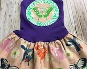 Girl's Toddler Tank Dress - Purple Butterfly - Infa...