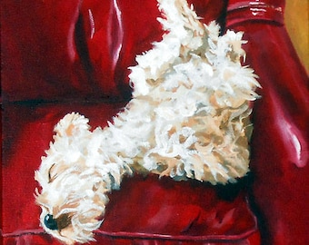 Personalized Dog Painting Custom Portrait, Oils on Canvas by Robin Zebley