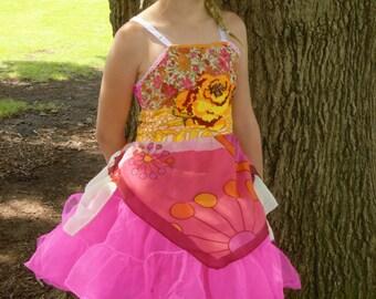 Rubypearl Girls' Yellow Rose Dress