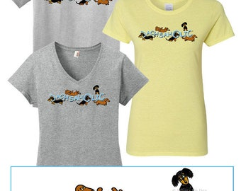 Dachshund T-Shirt Dachsaholic