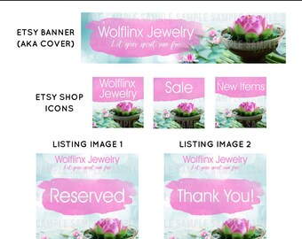 Custom Shop Banner Set, Banner and Icon Set, Custom Etsy Banner, Custom Banner Set, Etsy Graphic Design Package, Custom Etsy Shop Design