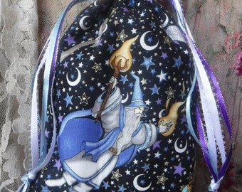 Tarot Bag, Gothic Pouch, Wizards Owls, Magical,  Bag, Wiccan Accessories, Divination Supplies, Runes Bag, Oracle Cards, Tarot Supplies, Gift