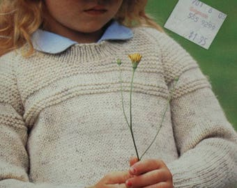 Sweater Knitting Patterns Children Country Juniors Beehive Patons 460 DK Weight Yarn Cardigan Vest Vintage Paper Original NOT a PDF