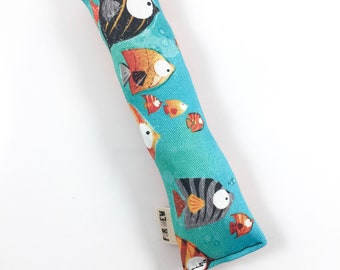Fishes Crisp Organic Catnip Crinkle Kicker Cat Toy by For Mew