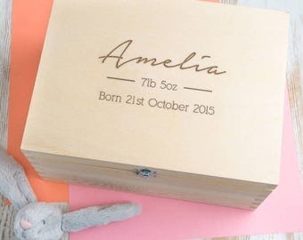 Baby Memory Box New Parent Gift Personalized