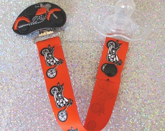 Pacifier Clip Born to be Wild Paci Soother Mam Nook Binky Holder Harley Davidson Inspired Motorcycle  YOU CHOOSE Loop or Snap new baby gift